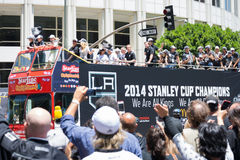 LA Kings Stanley Cup Parade Celebration Royalty Free Stock Photography