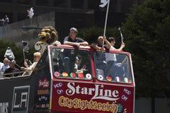 LA Kings 2014 Stanley Cup Victory Parade, Los Angeles, California, USA Stock Photo