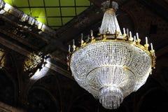La lámpara cristalina grande Foto de archivo