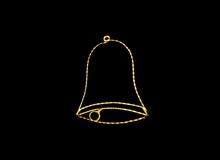 La lámpara de Bell adorna brillante ligero Imagenes de archivo