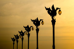 La lámpara de oro del cisne Foto de archivo libre de regalías