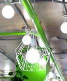 La lámpara del Grunge en el café Imágenes de archivo libres de regalías
