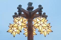 La lámpara es como forma de la estrella Foto de archivo