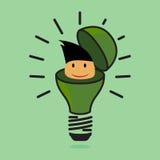 La lámpara, ideas Imágenes de archivo libres de regalías
