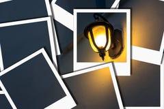 La lámpara ilumina la foto inmediata amarilla Foto de archivo libre de regalías