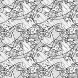 La línea arte con el modelo monocromático con los pescados dirige libre illustration