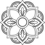 La línea arte de la mandala Imagen de archivo libre de regalías