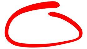 La línea circundada roja gruesa para destacar algo fotografía de archivo