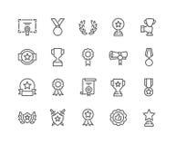La línea concede iconos ilustración del vector