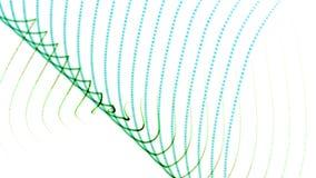 la línea de afluencia abstracta fondo, ritmo de la onda del punto de la armadura 4k de la música puntea el contexto stock de ilustración