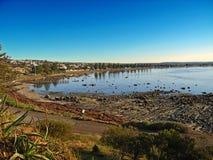 La línea de costa en el puerto del vencedor, Australia Fotografía de archivo