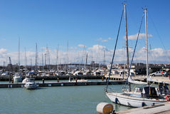 La línea de costa y la playa de Pescara imágenes de archivo libres de regalías