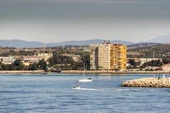 La Línea de la Concepción beachfront from Gibraltar Royalty Free Stock Photography