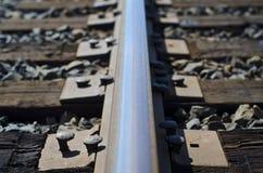La línea de la pista de ferrocarril Fotografía de archivo
