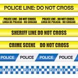 La línea de policía no cruza stock de ilustración