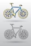 La línea del extracto uno le gusta la bicicleta Foto de archivo