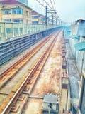La línea 3 del metro de Shangai Imagen de archivo
