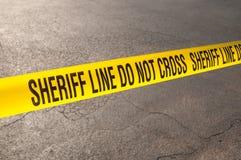 La línea del sheriff no cruza Imagen de archivo