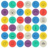 La línea del tiempo enrarece iconos Imagen de archivo libre de regalías