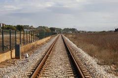 La línea del tren Fotografía de archivo