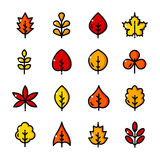 La línea fina sale de iconos fijados, ejemplo del vector libre illustration