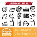 La línea iconos fijó 20 libre illustration