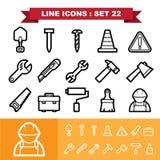 La línea iconos fijó 21 Imagen de archivo libre de regalías