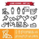 La línea iconos fijó 24 Imagenes de archivo