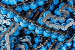 La línea industrias fabriles del ensamblaje del rodillo. Imagen de archivo libre de regalías