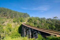 La línea principal ferrocarril en Sri Lanka Fotografía de archivo