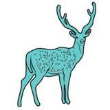 La línea proyecto del ejemplo del extracto del diseño de la historieta del icono de los ciervos alineó el animal Fotografía de archivo libre de regalías