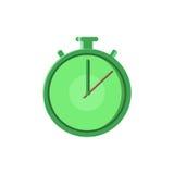 La línea rápida icono plano de Logo Quick Delivery Service del tiempo para la aplicación móvil, el botón y el sitio web diseñan I Imagenes de archivo