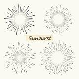 La línea radial geométrica resplandor solar, los rayos del sol o las estrellas del vector brilla, de destello Fuegos artificiales libre illustration