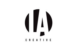 LA L A White Letter Logo Design with Circle Background. Royalty Free Stock Photos