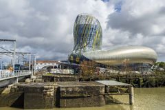 La La citent du vin en Bordeaux, France photo stock