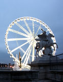 La La grand Roue Ferris roulent dedans Paris France Image stock