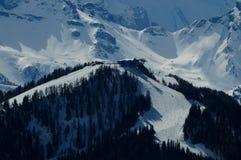 La La Ila di Piz in montagne delle dolomia si avvicina alla villa della La, Alta Badia, Italia Immagini Stock Libere da Diritti