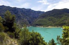 La laca Sainte Croix Du Verdon del azul cerúleo Fotografía de archivo