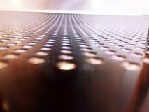 La lacuna dello spazio è sistemata in una fila lunga immagine stock