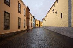 La Laguna. Street in La Laguna (Tenerife Royalty Free Stock Image