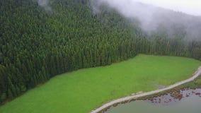 La laguna asombrosa de los siete cidades de Lagoa das 7 de las ciudades almacen de metraje de vídeo