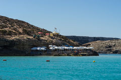 La laguna blu ottiene il suo nome dai bei colori della s Fotografia Stock