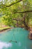 La laguna blu a pukham frana il vangvieng, Laos Fotografia Stock