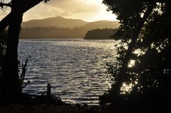 La laguna in Christiansted, St Croix immagine stock