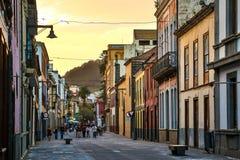La Laguna - de beroemde historische stad in het Eiland van Tenerife Stock Afbeeldingen