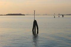 La laguna di Venezia al tramonto, Italia Immagini Stock