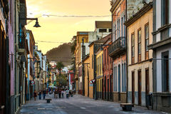 La Laguna - the famous historical town in Tenerife Island. La Laguna is famous old town in Tenerife island full of important historical buildings stock images