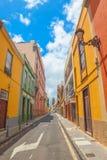 La Laguna old town narrow street Stock Photography