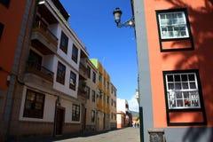 La Laguna in Tenerife, isnalds color giallo canarino, Spagna immagine stock libera da diritti