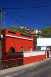 La Laguna in Tenerife, isnalds color giallo canarino, Spagna immagini stock